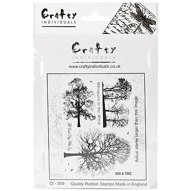 Crafty Individuals 96 mm x 137 mm Unmounted Rubber Stamp, Winter Trees