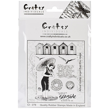 Crafty Individuals 96 mm x 137 mm Unmounted Rubber Stamp, Beside the Sea