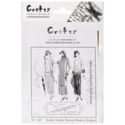 Crafty Individuals 96 mm x 137 mm Unmounted Rubber Stamp, The Dressmaker