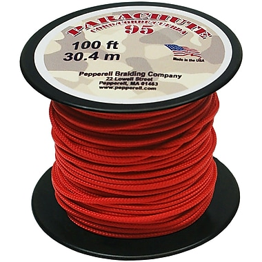 Pepperell 100' 95 Parachute Cord, Red