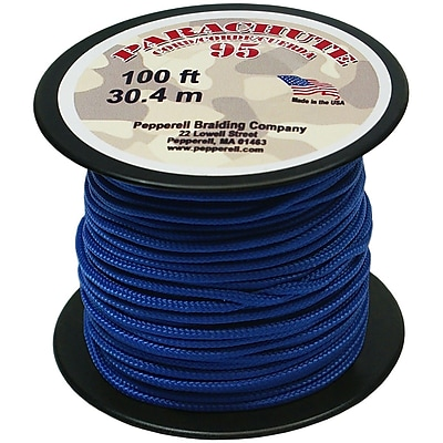 Pepperell 100' 95 Parachute Cord, Royal