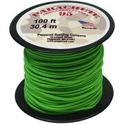 Pepperell 100' 95 Parachute Cord, Neon Green