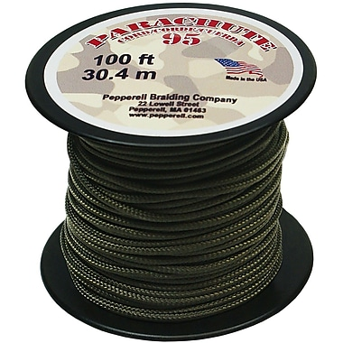 Pepperell 100' 95 Parachute Cord, Olive Drab