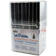 Uchida Fine Brush Tip Point Permanent Marker, Assorted, 36/Pack