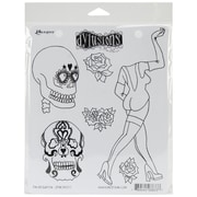 """Ranger 8 1/2"""" x 7"""" Dylusions Cling Rubber Stamp, Pin Up Queen"""