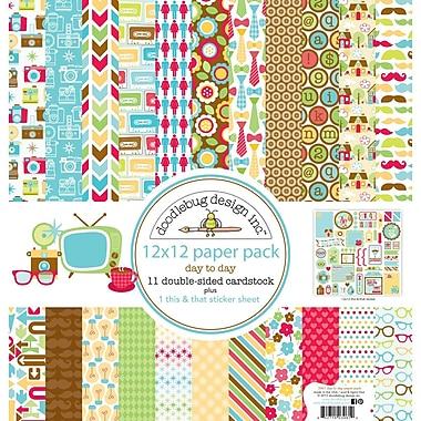 Doodlebug™ Day To Day Paper Pack, 12