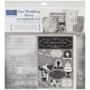 "Karen Foster Our Wedding Story Scrapbook Page Kit, 12"" x 12"""