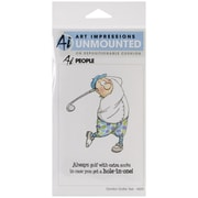 "Art Impressions 7"" x 4"" People Cling Rubber Stamp Set, Gordon Golfer"