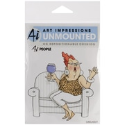 "Art Impressions People 3 3/4"" x 4"" Cling Rubber Stamp, Celeste"