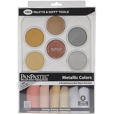 Colorfin PanPastel 9 ml. Metallics palette Kit, 6/Pack (30077)