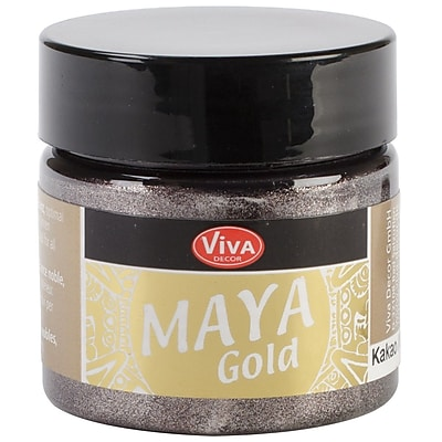 Viva Decor Maya Gold 50 ml Liquid Metallic Paint, Cacao
