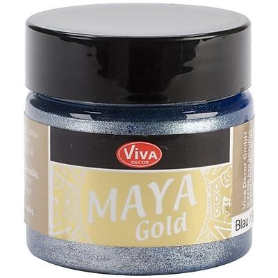 Viva Decor Maya Gold 50 ml Liquid Metallic Paint, Blue