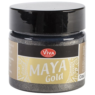 Viva Decor Maya Gold 50 ml Liquid Metallic Paint, Grey