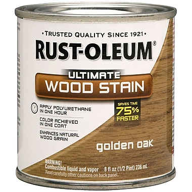 Rust-Oleum® Ultimate Wood Stain, Golden Oak, Half Pint, 8 oz.
