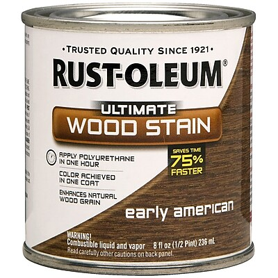 Rust-Oleum® Ultimate Wood Stain, Early American, Half Pint, 8 oz.