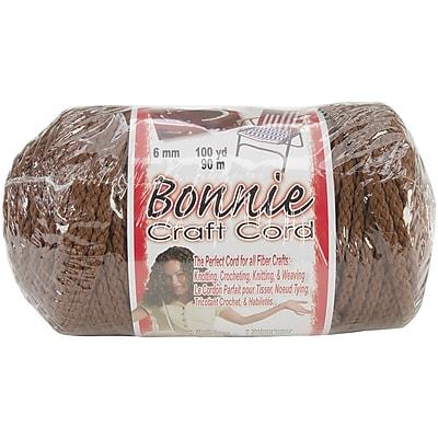 Pepperell Bonnie Macrame Craft Cord, 6 mm x 100 yds., Almond