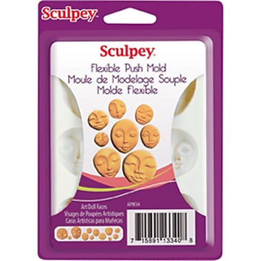 Sculpey® Flexible Push Mold, Art Doll Faces