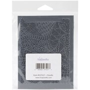 "Lisa Pavelka 4 1/4"" x 5 1/2"" Individual Texture Rubber Stamp, Cloodle"