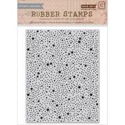 "Basic Grey 5"" x 4 1/4"" RSVP Cling Photopolymer Stamp, Tiny Star Background"