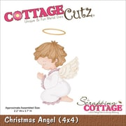 "CottageCutz® 4"" x 4"" American Steel Die, Christmas Angel"