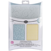 "Sizzix® Textured Impressions A2 5 3/4"" x 4 1/2"" Embossing Folder, Swirls & Squares in Ovals"