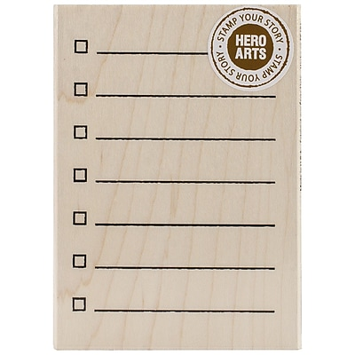 """""Hero Arts 3"""""""" x 4"""""""" Wood Mounted Rubber Stamp, My Checklist"""""" 867601"