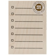 "Hero Arts® 3"" x 4"" Wood Mounted Rubber Stamp, My Checklist"