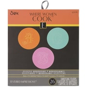 """Sizzix® 2 7/8"""" x 2 1/4"""" x 1/8"""" Textured Impressions Embossing Folder, Eclectic Monograms"""