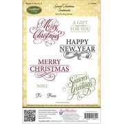 "Justrite® Papercraft 5 1/2"" x 8 1/2"" Cling Stamp Set, Grand Christmas Sentiments"