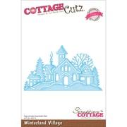 """CottageCutz® Elites 2.6"""" x 4.5"""" Thin Metal Die, Winterland Village"""