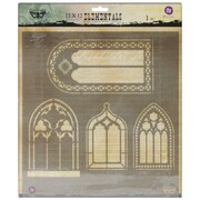 "Prima Marketing™ 12"" x 12"" Elementals Stencil, Windows"