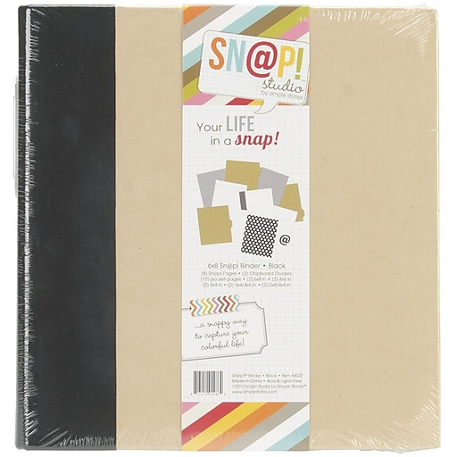 simple stories snap binder 6 x 8 black staples