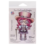 "La-La Land Crafts 4"" x 3"" Mounted Cling Rubber Stamp, Top Hat Steampunk Marci"