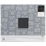 "American Crafts™ Cloth D-Ring Album, 12"" x 12"", Charcoal"