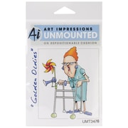 """Art Impressions Golden Oldies 4"""" x 2 1/4"""" Cling Rubber Stamp, Jean"""