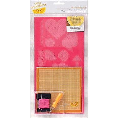 American Crafts™ Cut & Paste Embroidery Stencil Kit, Hello