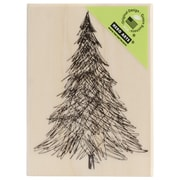 "Hero Arts® 3 1/4"" x 2 1/4"" Wood Mounted Rubber Stamp, Pen & Ink Christmas Tree"