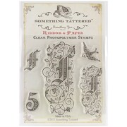 """Something Tattered™ 4"""" x 4"""" Clear Monogram Photopolymer Cling Stamp Set, G Initial"""