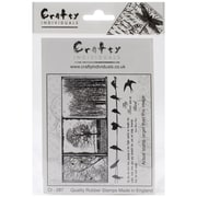 Crafty Individuals 96 mm x 137 mm Unmounted Rubber Stamp, Birds on a Wire