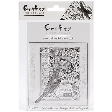 Crafty Individuals 77 mm x 96 mm Unmounted Rubber Stamp, Love is all Around