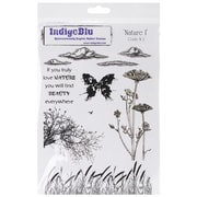 """IndigoBlu 9 1/4"""" x 6 1/4"""" Mounted Cling Rubber Stamp, Nature 1"""