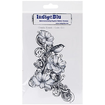 IndigoBlu Cling Mounted Stamp 7X4.75-Bubbles Background