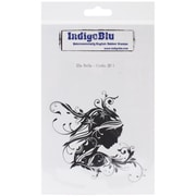 "IndigoBlu 7"" x 4 3/4"" Mounted Cling Rubber Stamp, Ella Bella"