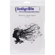 "IndigoBlu 9 1/4"" x 6 1/4"" Mounted Cling Rubber Stamp, Rebecca Snow Queen"