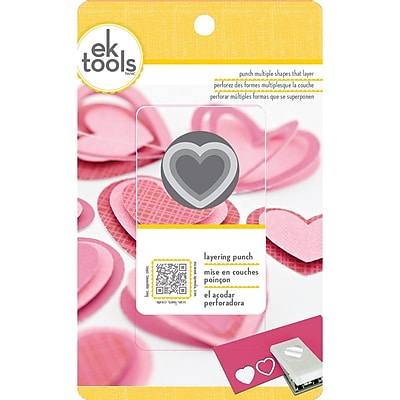 EK Success® Layering Punch, Heart, 0.9