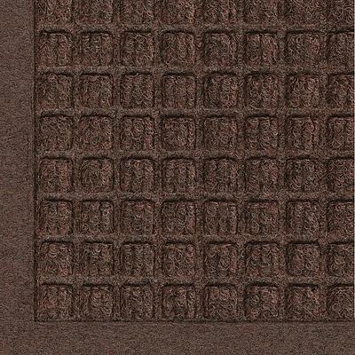 Andersen Waterhog Fashion Polypropylene Indoor Floor Mat, 6' x 20', Dark Brown with Cleated Backing