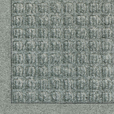 Andersen Waterhog Fashion Polypropylene Indoor Floor Mat, 6' x 20', Medium Gray with Cleated Backing