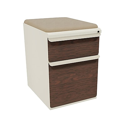Marvel Zapf 2 Drawer Mobile/Pedestal File, Mahogany,Letter/Legal, 15''W (762805004101)