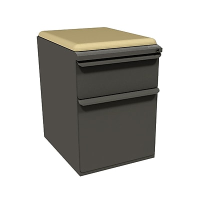 Marvel Zapf 1 Drawer Mobile/Pedestal File, Charcoal,Letter/Legal, 15''W (762805004248)