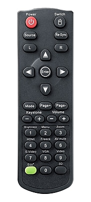 Optoma BR-5041L Laser and Mouse Remote Control For TW556-3D